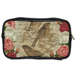Vintage birds Toiletries Bags