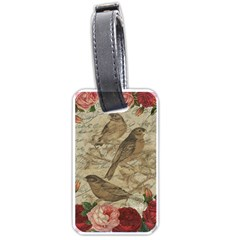 Vintage birds Luggage Tags (One Side)