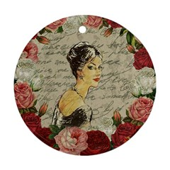 Vintage girl Ornament (Round)