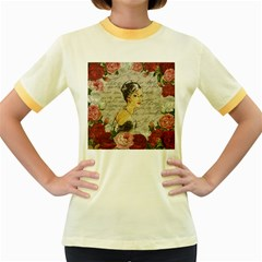 Vintage girl Women s Fitted Ringer T-Shirts
