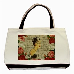 Vintage girl Basic Tote Bag (Two Sides)