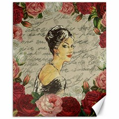 Vintage girl Canvas 11  x 14