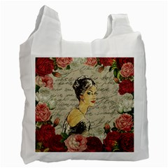 Vintage girl Recycle Bag (Two Side)