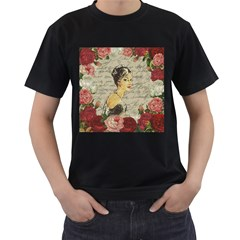 Vintage girl Men s T-Shirt (Black)