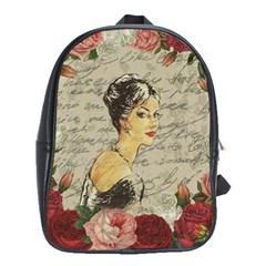 Vintage girl School Bags(Large)