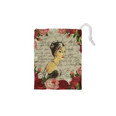 Vintage girl Drawstring Pouches (XS)