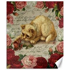 Vintage kitten  Canvas 8  x 10