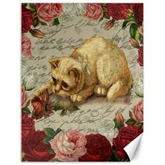 Vintage kitten  Canvas 18  x 24