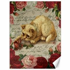 Vintage kitten  Canvas 36  x 48