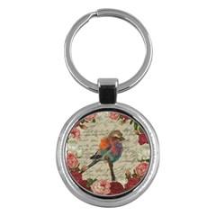 Vintage bird Key Chains (Round)