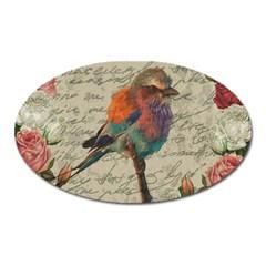 Vintage bird Oval Magnet