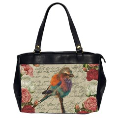 Vintage bird Office Handbags (2 Sides)