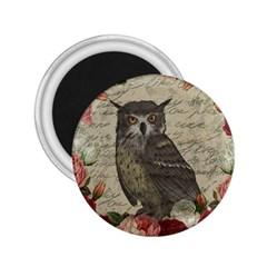 Vintage owl 2.25  Magnets