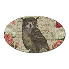 Vintage owl Oval Magnet