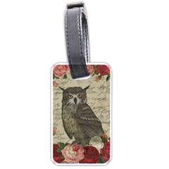 Vintage owl Luggage Tags (One Side)