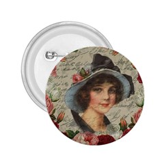 Vintage girl 2.25  Buttons