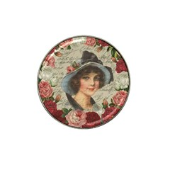 Vintage girl Hat Clip Ball Marker (10 pack)
