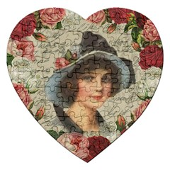 Vintage girl Jigsaw Puzzle (Heart)