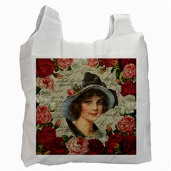 Vintage girl Recycle Bag (One Side)