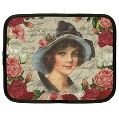 Vintage girl Netbook Case (XXL)