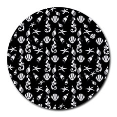 Seahorse pattern Round Mousepads