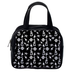 Seahorse pattern Classic Handbags (One Side)
