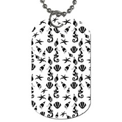 Seahorse pattern Dog Tag (Two Sides)