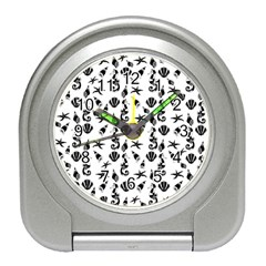 Seahorse pattern Travel Alarm Clocks