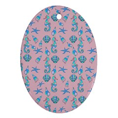 Seahorse pattern Ornament (Oval)