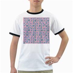 Seahorse pattern Ringer T-Shirts