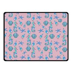 Seahorse pattern Fleece Blanket (Small)