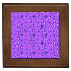 Seahorse pattern Framed Tiles