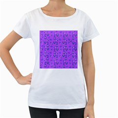 Seahorse pattern Women s Loose-Fit T-Shirt (White)