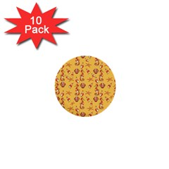 Seahorse pattern 1  Mini Buttons (10 pack)