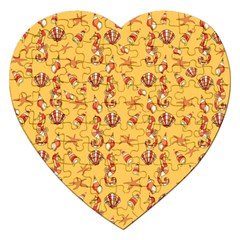 Seahorse pattern Jigsaw Puzzle (Heart)