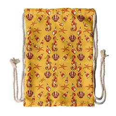 Seahorse pattern Drawstring Bag (Large)