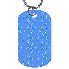 Seahorse pattern Dog Tag (One Side)