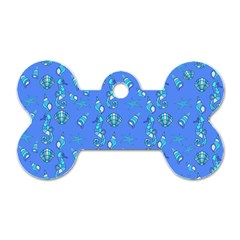 Seahorse pattern Dog Tag Bone (Two Sides)