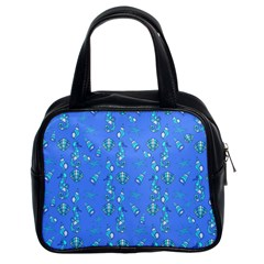 Seahorse pattern Classic Handbags (2 Sides)