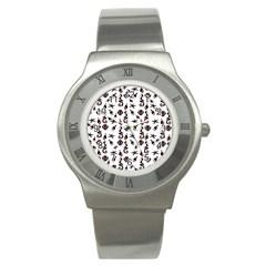 Seahorse Pattern Stainless Steel Watch