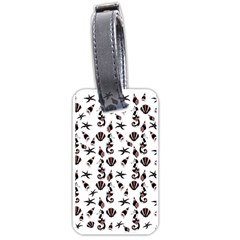 Seahorse pattern Luggage Tags (One Side)