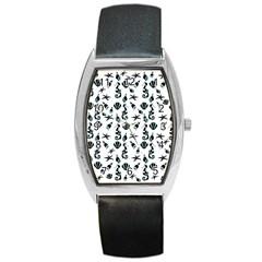 Seahorse pattern Barrel Style Metal Watch
