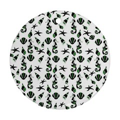 Seahorse pattern Ornament (Round)