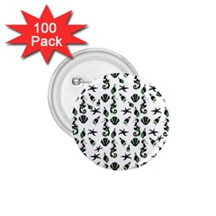 Seahorse pattern 1.75  Buttons (100 pack)