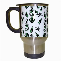 Seahorse pattern Travel Mugs (White)
