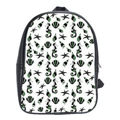 Seahorse pattern School Bags(Large)