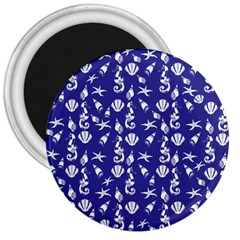 Seahorse pattern 3  Magnets