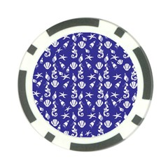 Seahorse Pattern Poker Chip Card Guard