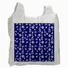 Seahorse pattern Recycle Bag (One Side)