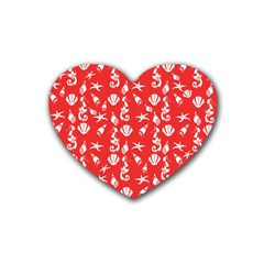 Seahorse pattern Heart Coaster (4 pack)